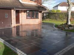 Wet Kotah black limestone laid in driveway