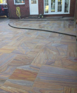 Rainbow Sawn Smooth Paving