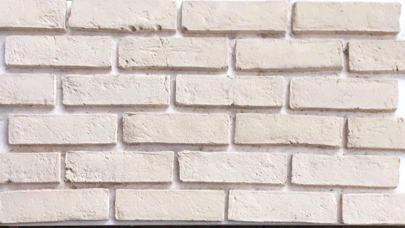 handmade arctic white brick slips cladding wall tiles 0