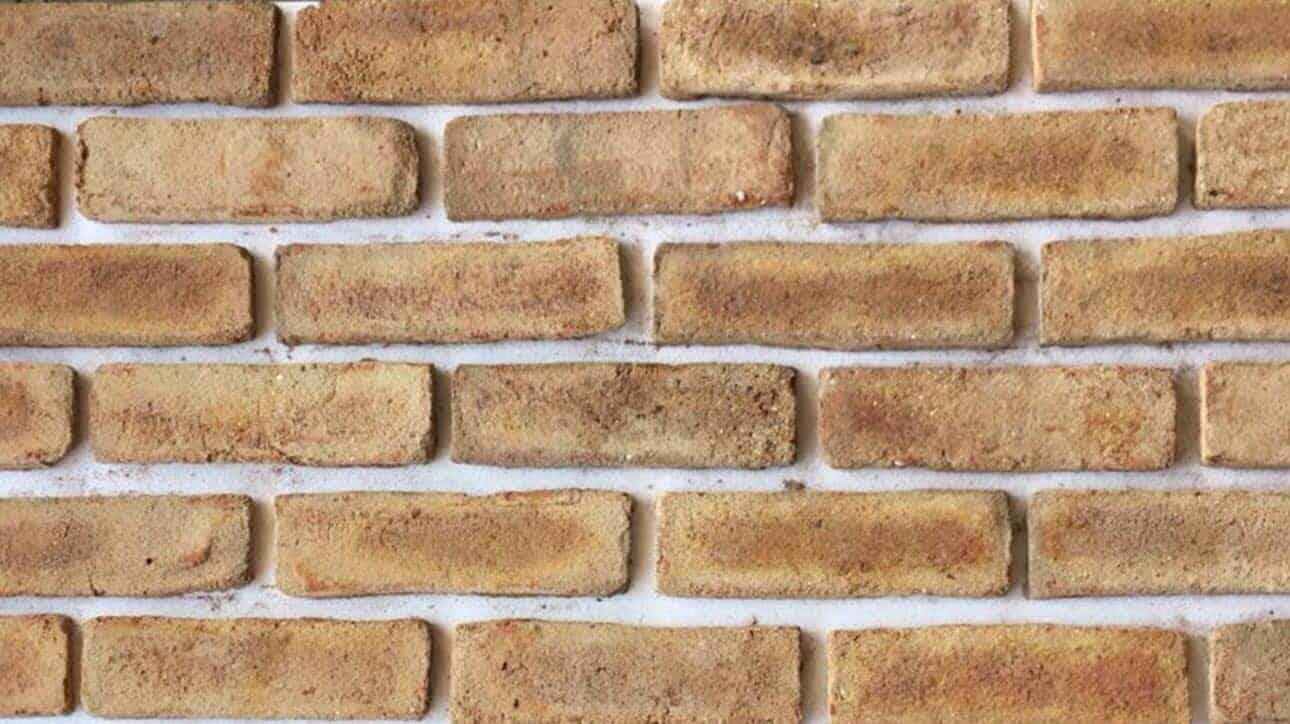 Sample Of Clay Handmade Yellow Reclaim Brick Slips Cladding Wall