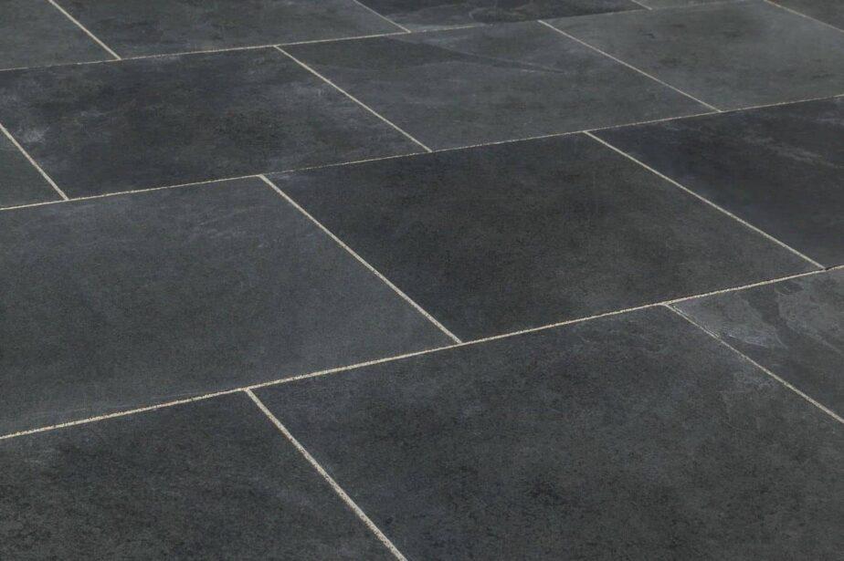 Exterior Large Rectangle Brazilian Slate Black Paving