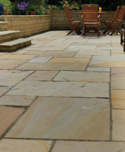 Buff Blend Indian Sandstone Paving