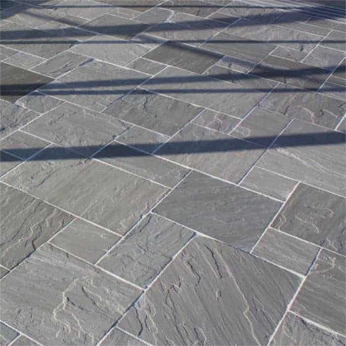 kandla grey patio pack indian sandstone paving slabs 22mm. Black Bedroom Furniture Sets. Home Design Ideas
