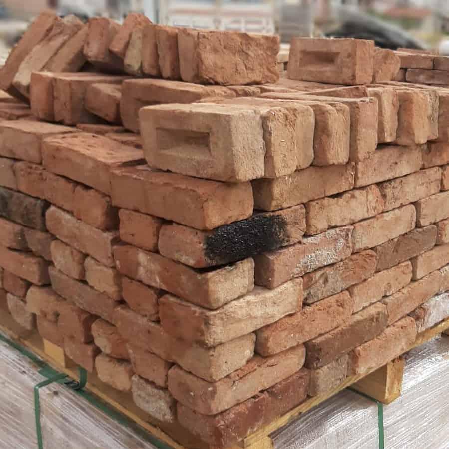Cheshire Red Handmade Reclaimed 60mm Bricks | Pack of 440 ...