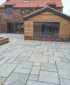 Kandla Grey Sandstone Paving Outdoors