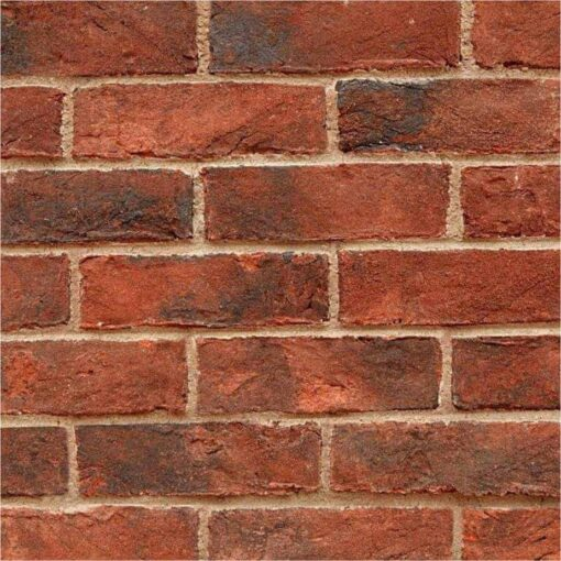Wall made using townhouse imperial bricks
