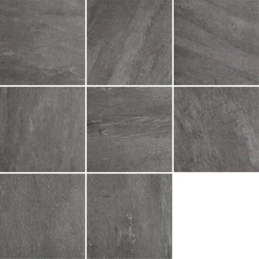 8 square slabs of Quartz grey porcelain paving