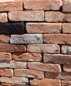 Stack of red reclaimed bricks