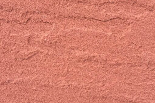 Closeup of an Agra red sandstone paving slab