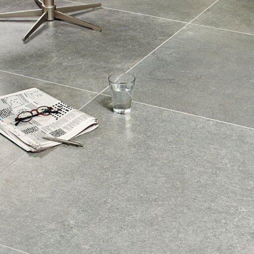 Carbonia porcelain paving indoors