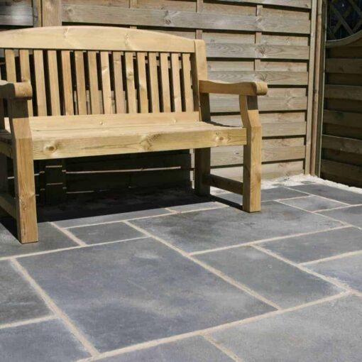 Kotah black limestone in outside seating area