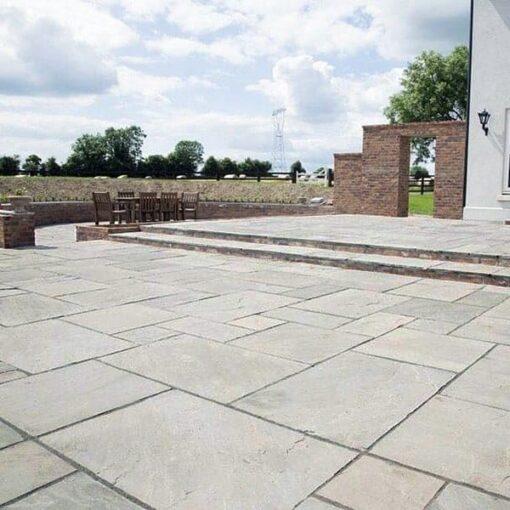 Kandla grey sandstone in large open patio