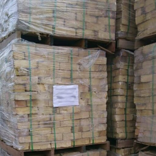Wrapped pallets of London Yellow stock bricks