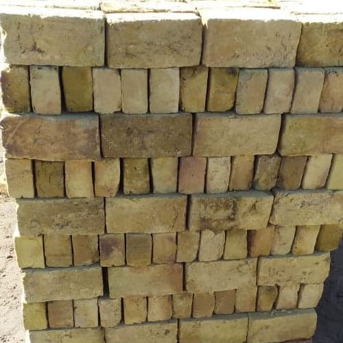 Side of a pallet of London Yellow stock bricks