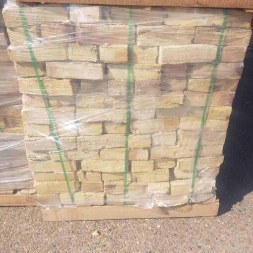 Wrapped pallet of London Yellow stock bricks