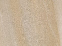 Square slab of Canyon Sand porcelain paving