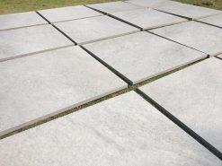Slabs of HS grey porcelain paving