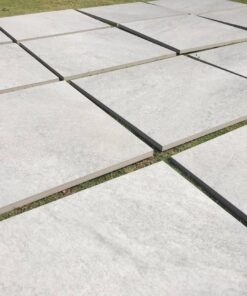 Slabs of HS grey porcelain paving